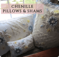 Chenille Pillows & Shams